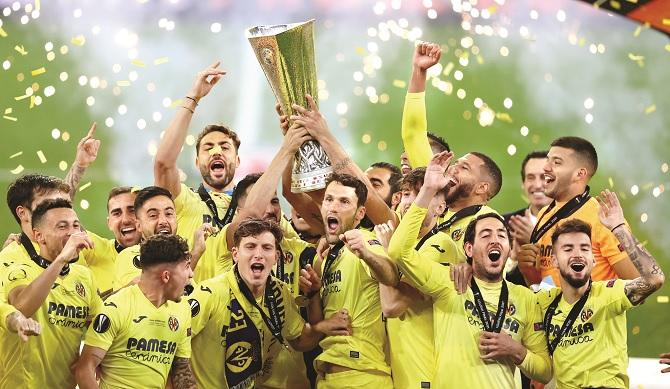 Vila Real won the Europa League title in a penalty shootout.Picture:PTI