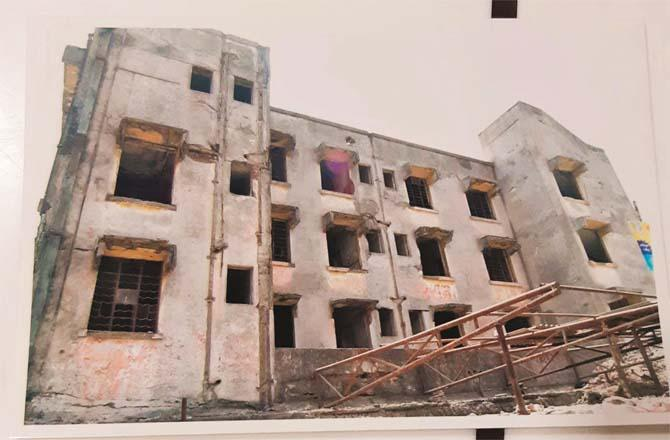 A new hospital is being built by demolishing the old dispensary at Vakhroli Park site.Picture:Inquilab