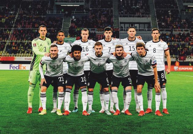 German team posing before a match. .Picture:INN