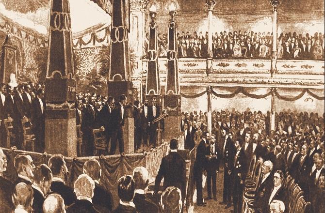The first Nobel Prize ceremony. Photo: Nobel Prize.com