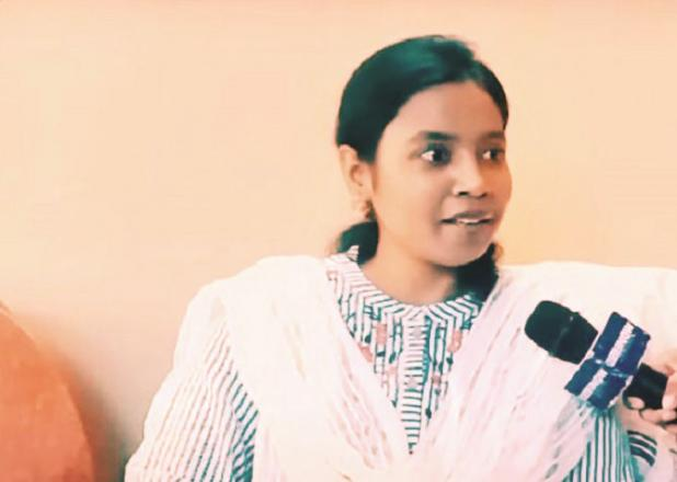 Sadaf Alam from Muzaffarpur district of the state secured 65th position..Picture:INN