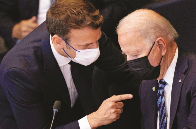 Will Biden be able to quell Macron`s anger? (File photo)