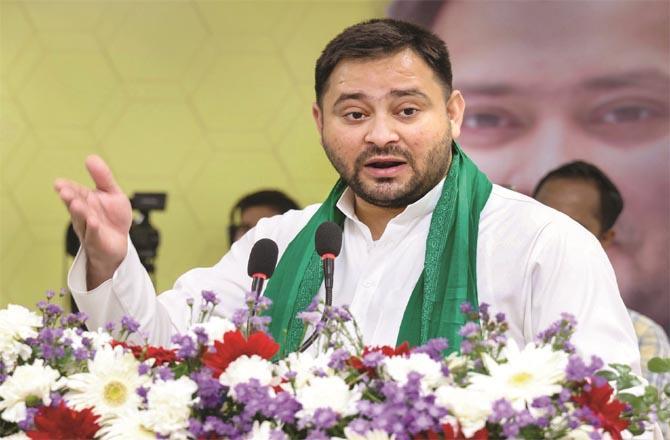 Bihar Opposition Leader tejashwi Yadav has slammed Chief Minister Nitish Kumar for the alleged scam.Picture:INN