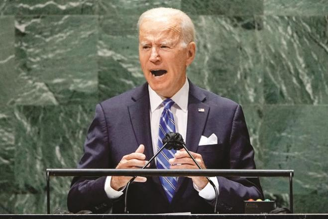 Joe Biden addressing a meeting in New York Photo: Agency.Picture:Agency