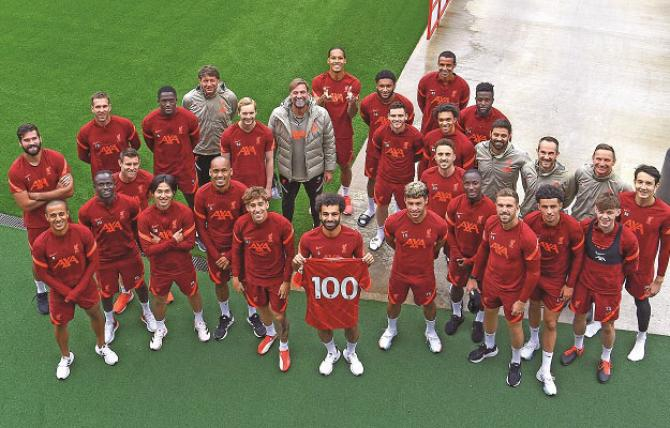 The Liverpool team can be seen in the league with 100 goals of Salah.Picture:INN