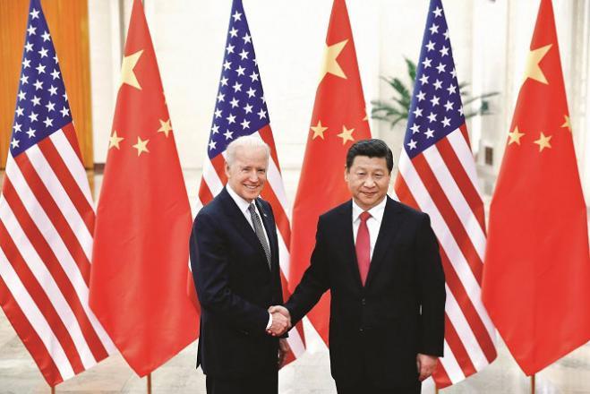 Joe Biden and Xi Jinping. Picture:INN