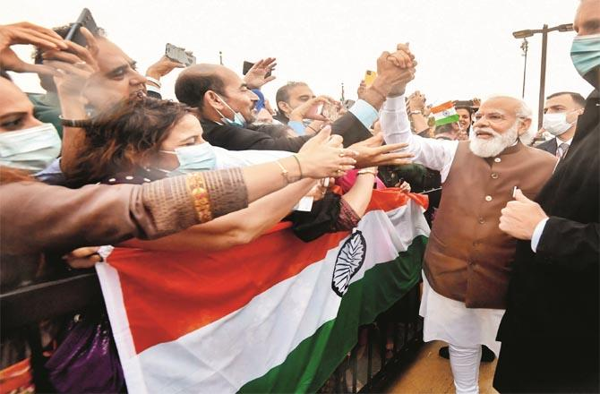 Prime Minister Modi received a warm welcome in Washington.(PTI)